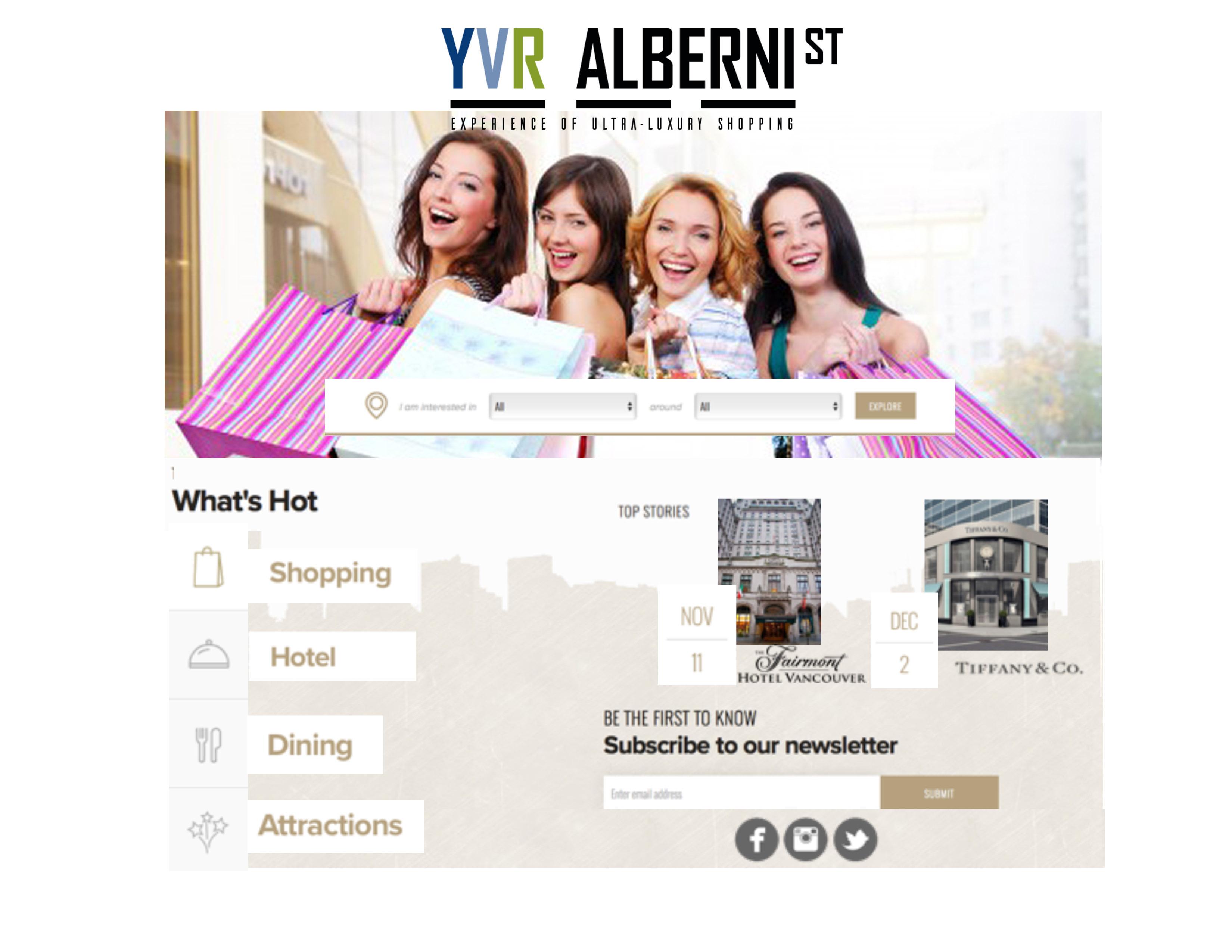 YVR Alberni web page